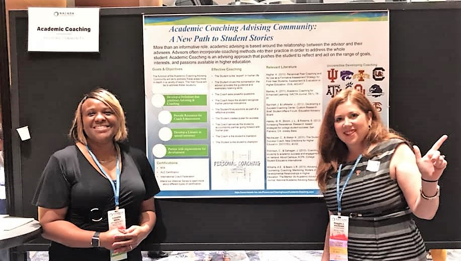 Academic Coaching Advising Community Poster at the ACD Fair in Phoenix 2018